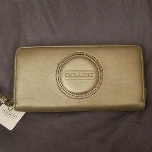 COACH Leather Wallet - Bronze